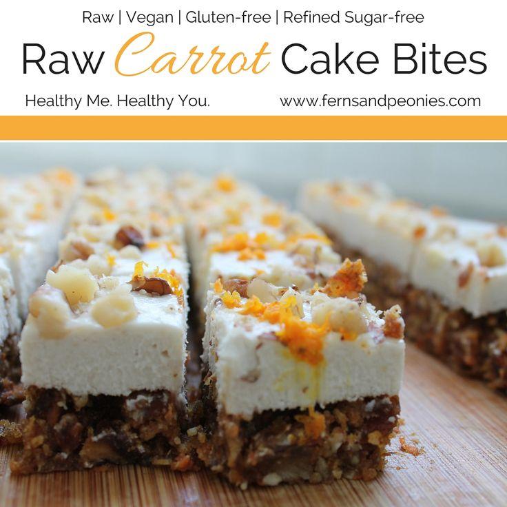 Raw Carrot Cake Bites  http://www.fernsandpeonies.com/blog/raw-carrot-cake-bites