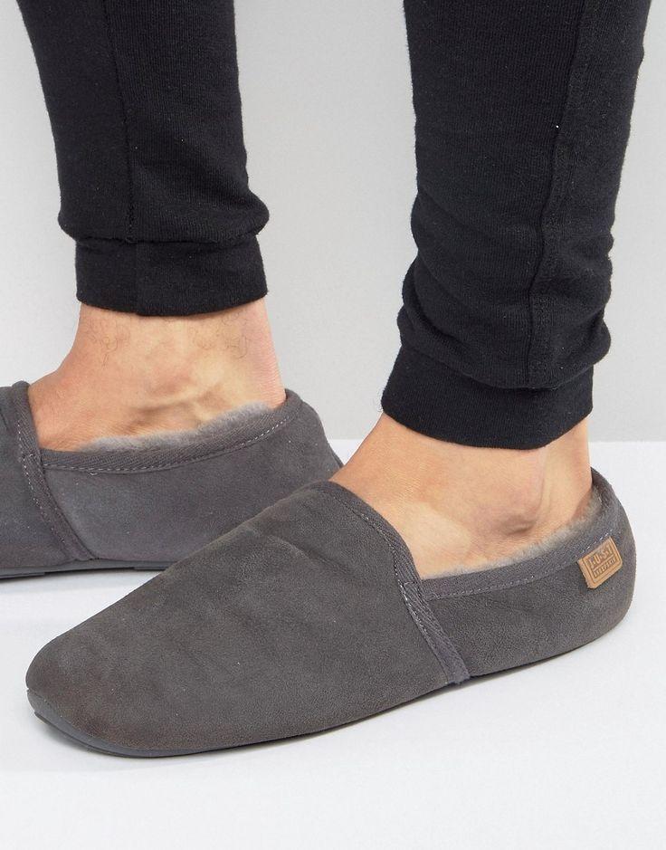 Just Sheepskin Garrick Slippers - Gray