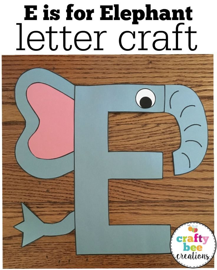 I love how the Letter E has been changed into a Elephant craft.  This is a perfect alphabet activity for toddlers, preschool, and kindergarten students.