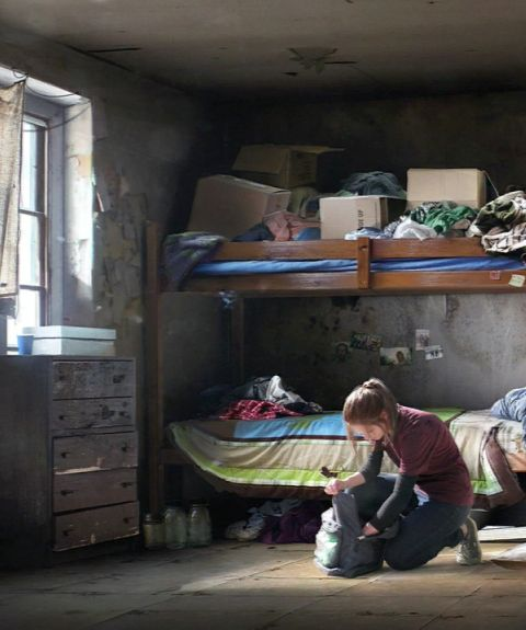 I quickly packs bag of knives, extra arrows, matches, money, clothes, water, and a few containers. I take a last look of the dump of a room I call home. I open the window and sprint into the woods