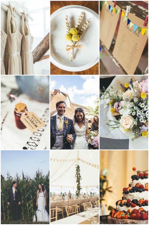Rustic, DIY, (and Bunting-Filled) English Farm Wedding