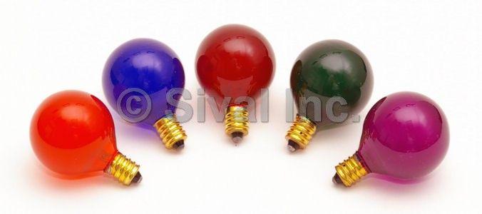 G40 Globe Light Bulbs, Candelabra Base (E12)