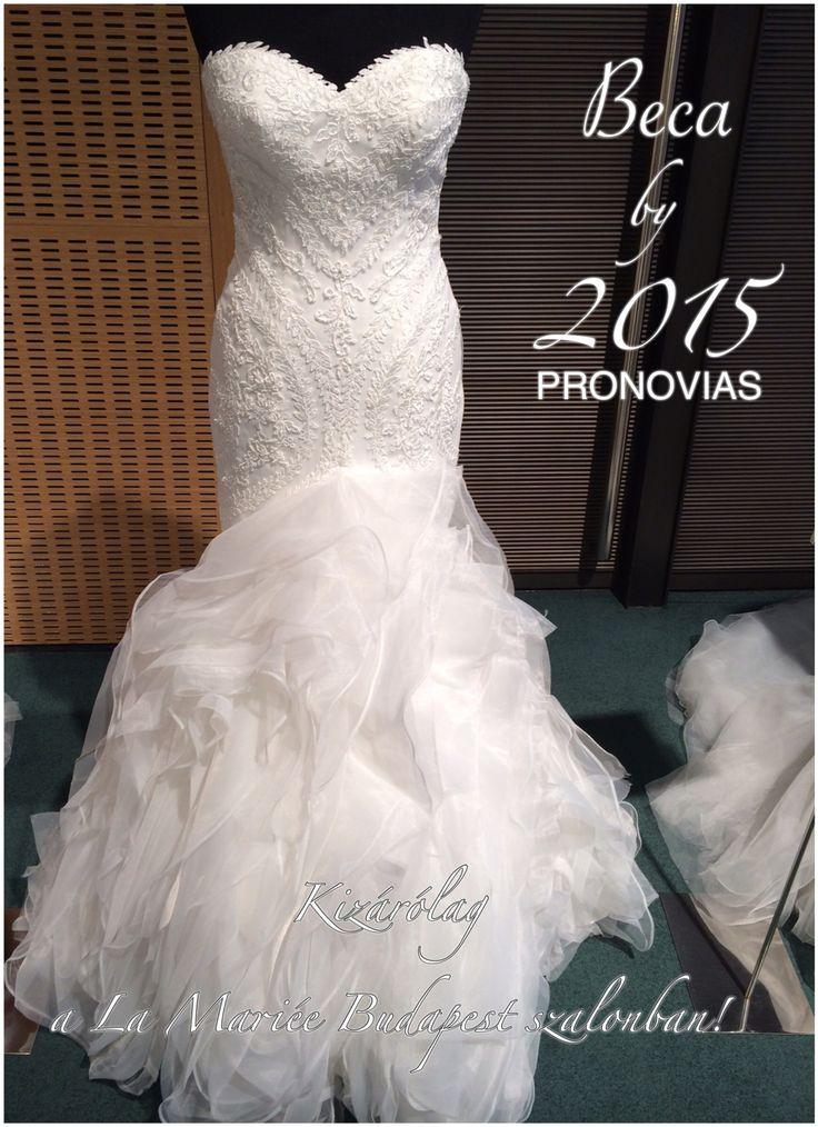 Beca esküvői ruha by Pronovias 2015  http://lamariee.hu/eskuvoi-ruha/pronovias/beca