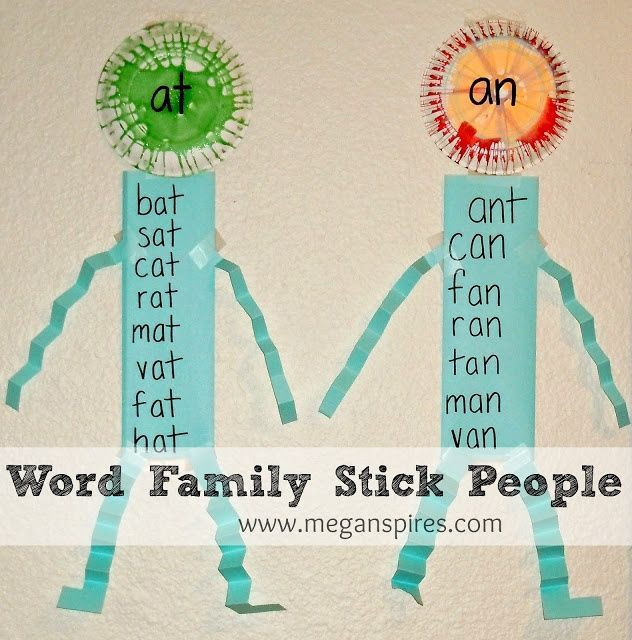 House of the Rising Sons: Word family stick people