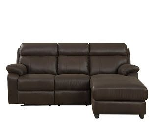 Homelegance Gaines 9609* 2-Piece Sectional Sofa with Reclining-Back Chaise, Chocolate Bomber-Jacket Microfiber    Maximizing comfort in a limited space has never been as easy as with the Gaines Collection.
