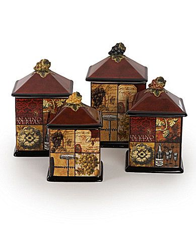 112 best images about kitchen cantsters on pinterest for Hearth and home designs canister set