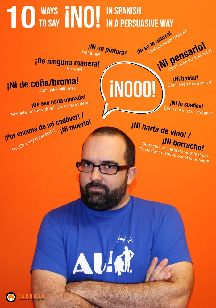 10 ways to say ¡NO! in Spanish.