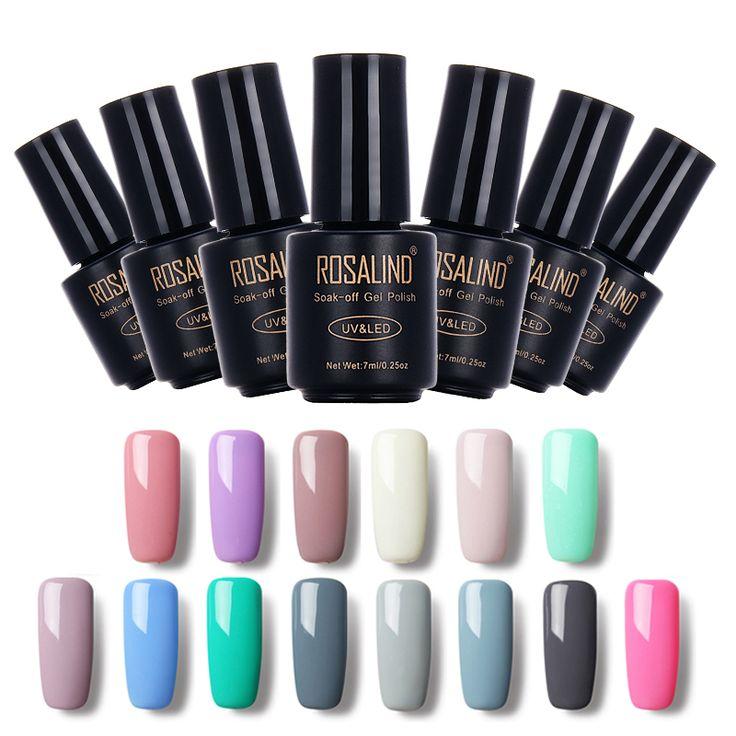 ROSALIND Black Bottle 7ML Pure Color 58 Colors 31-58  Gel Nail Polish Nail Art Nail Gel Polish UV LED Gel Macaron Semi Permanent  Price: 1.12 USD