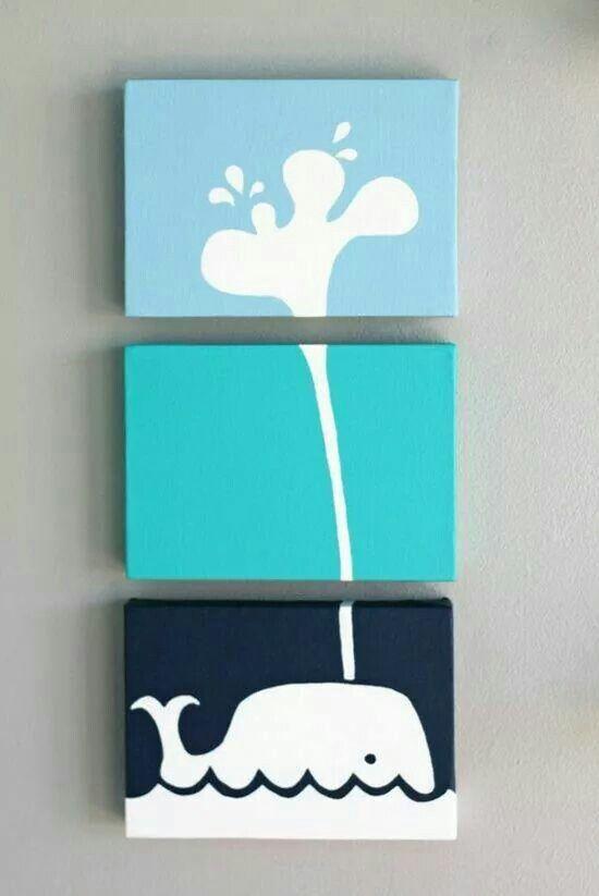 Adorable idea for a child's room or bathroom