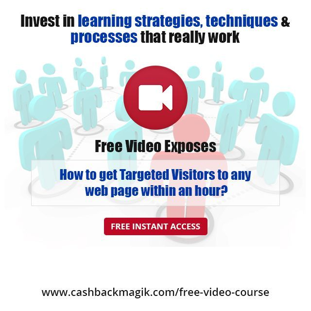 Grow your business by generating targeted traffic to your website. Get connected with Sarah Staar through her free video tutorial to learn how to take your business across boundaries with the help of online marketing strategies. Learn more @                                             http://www.cashbackmagik.com/free-video-course ---------  #Website #Traffic #Earn #Money #Online #Free #Video #Tutorial #SignUp #Register #MoneyTips