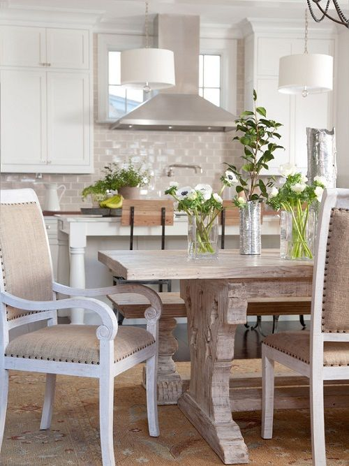 Great Country Kitchen Tables with Planters Accessories Design