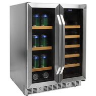Buy the Vinotemp 24 Inch Built-In Mirrored Wine and Beverage Cooler for a unique, mirrored wine and beverage refrigerator that holds up to 19 wine bottles and 58 beverage cans...