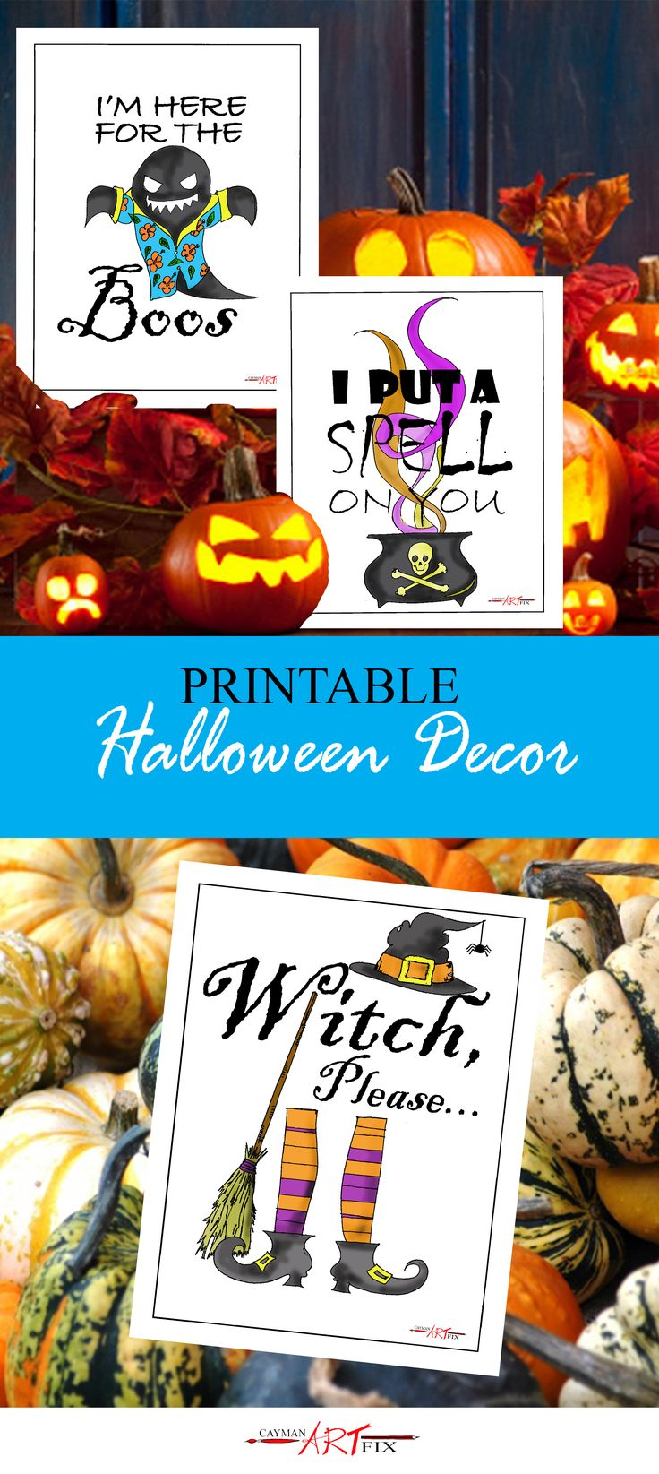 Printable Halloween Decor! Print and put in a frame for best effects! #Halloween #Printables #Downloads #Free #Creativelife #Cayman Islands #CaymanArtfix