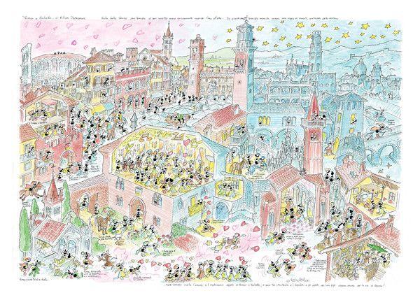 """Puzzle """"Romeo e Giulietta"""". #formiche #puzzle #verona #romeo #giulietta #shakespeare #culture #art"""