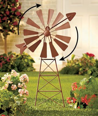 Metal Windmill Yard Art Will Look Beautiful In Your #garden! #yard