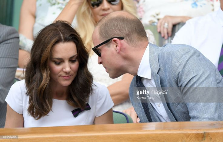 Catherine, Duchess of Cambridge and Prince William, Duke of Cambridge attend day 13 of Wimbledon 2017 on July 16, 2017 in London, England.
