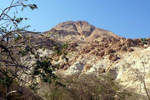 Montañas que rodean el oasis de Ein Guedi, Israel.