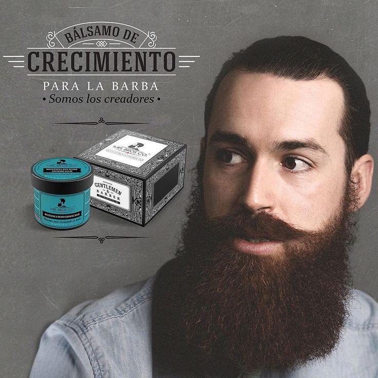 Bálsamo de Crecimiento para Barba - Moustache and Beard Growing Balm - Compra/Buy: www.mel-bros.com #beardbalm #beardgrowth #barba #crecimiento #barber by melbrosco