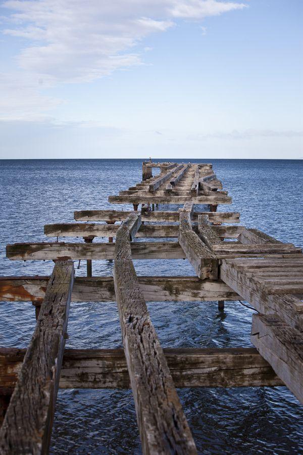 A dock at Punta Arenas (Chile) #photography #chile #puntaarenas #5d #bay #sea