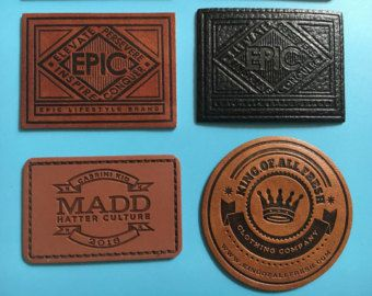300 Custom Leather Labels Jeans Patches Custom by BespokeLabels