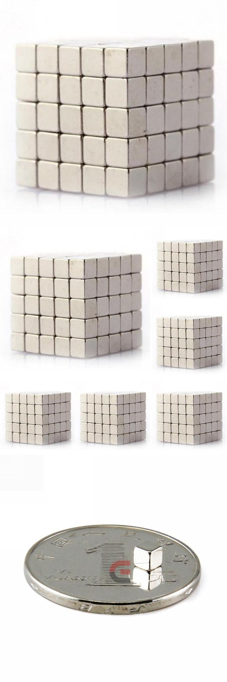 [Visit to Buy] 100pcs Super Strong Magnets Cube Rare Earth Disc Neodymium N35 3mm x 3mm x 3m #Advertisement
