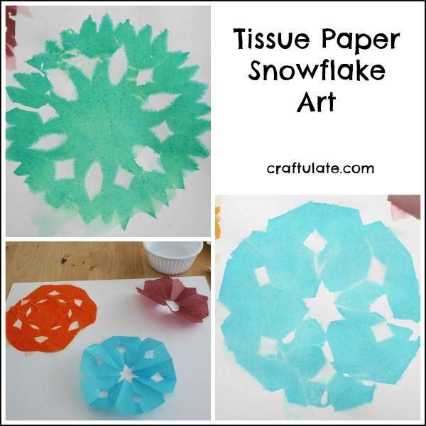 Tissue Paper Snowflake Art