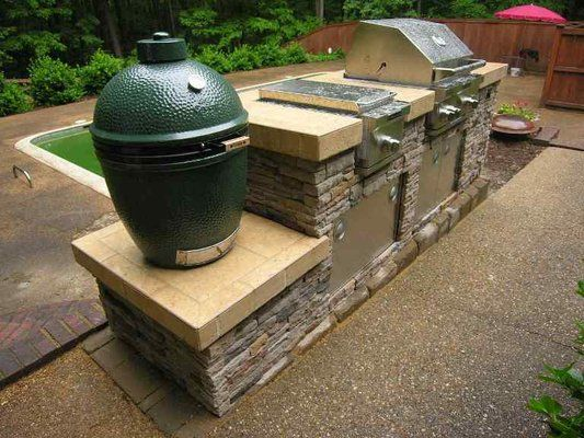 Built in Outdoor Grill and smoker Designs | Outdoor Kitchen Islands
