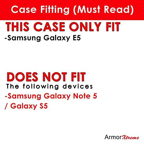 Buy [ArmorXtreme] Case for Samsung Galaxy E5 Black/Black [Combat Armor Heavy Duty Case with Holster] - [Navy Flag] NEW for 11.89 USD | Reusell