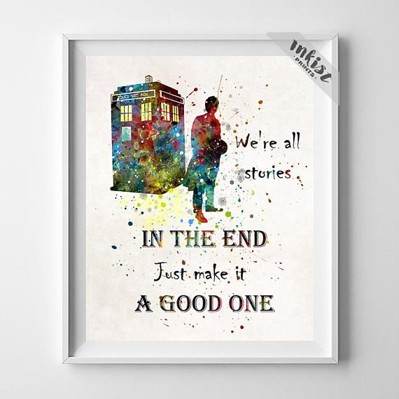 Doctor Who, Dr Who Art, Doctor Who Print, Tardis Print, Tardis Decor, Tardis Wall Art, Dr Who Watercolor, Watercolor Art, Gift For Him, Wall Art. PRICES FROM $9.95. CLICK PHOTO FOR DETAILS.#inkistprints #watercolor #watercolour #giftforher #homedecor #wallart #walldecor #poster #print #christmas #christmasgift #weddinggift #nurserydecor #mothersdaygift #fathersdaygift #babygift #valentinesdaygift #painting #dorm #decor #livingroom #bedroom