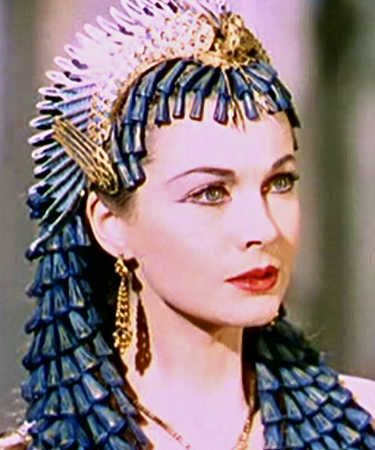 Cleopatra's love affair with Caesar, if that is what it was, lasted from 48 BCE to 44BCE (around the time of his death); at the time she was in her early twenties   The 1945 movie Caesar and Cleopatra was based on the George Bernard Shaw play with the same title and featured Vivien Leigh as Cleopatra.  George Blackler was the makeup artist.