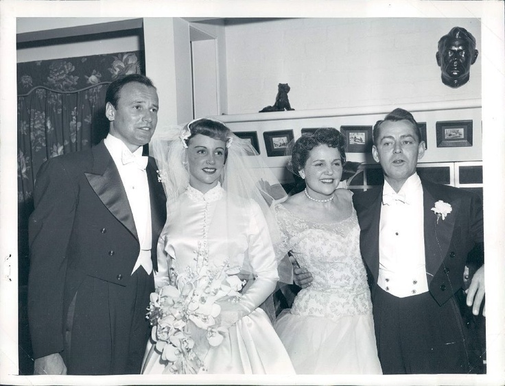 Alan Ladd and wife Sue Carroll's daughter Alana marries