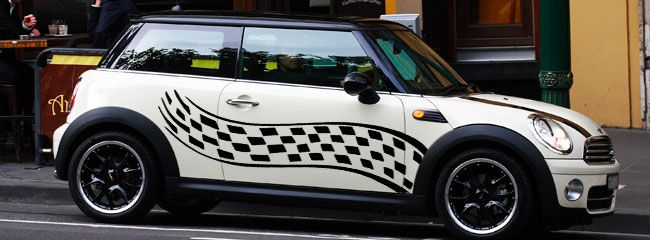 2 Mini Cooper Wing Side Boot Or Hood Graphics Decal