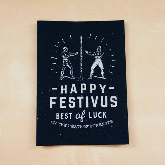 7 best flatstock images on pinterest screen printing happy festivus greeting card m4hsunfo