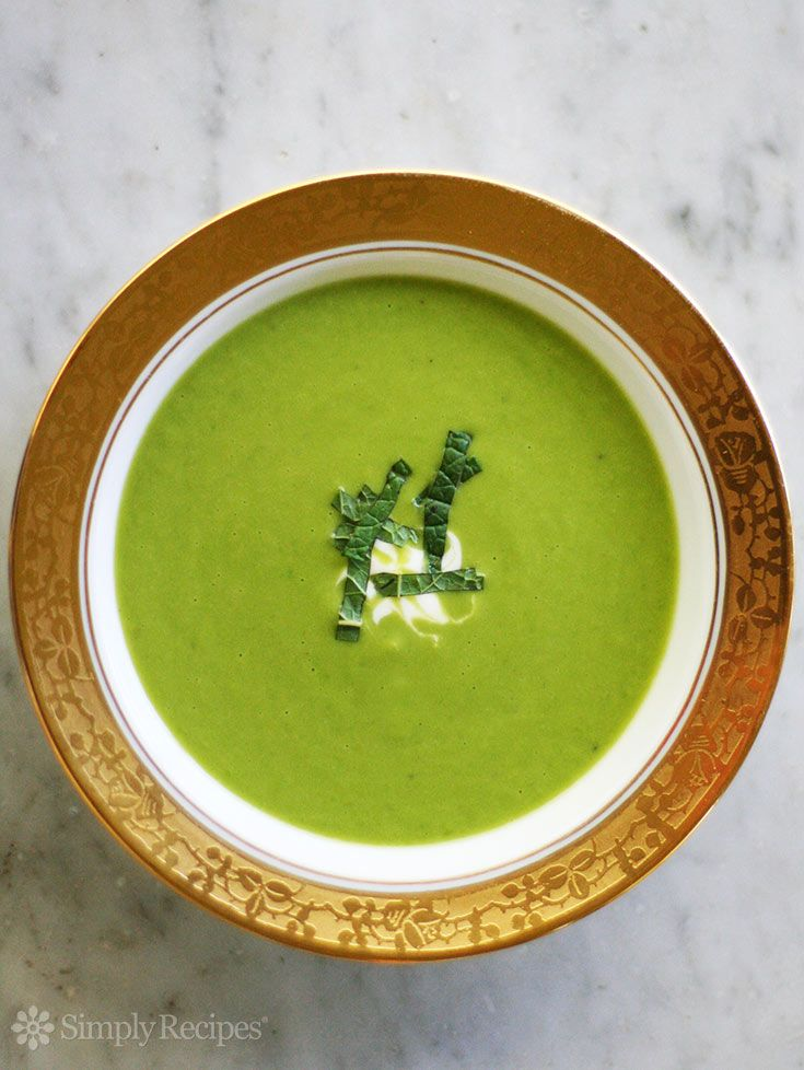 Soup ~ Delicious fresh pea soup recipe with petit peas, mint, cream ...