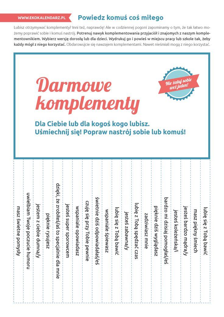 Darmowe komplementy - karteczki do wyrywania (wersja 1)