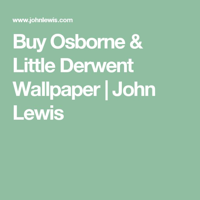 Buy Osborne & Little Derwent Wallpaper | John Lewis