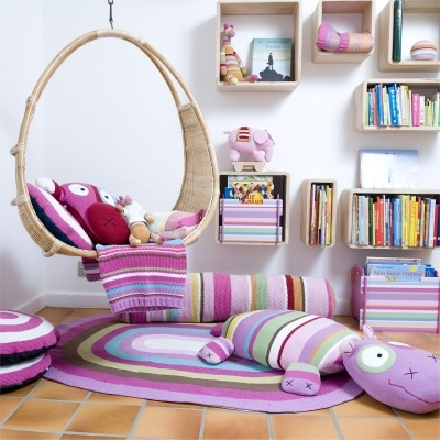 silla colgante niños interior children kids hanging chair decoración decoration miraquechulo