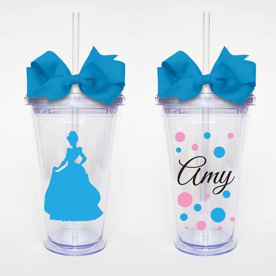 Disney Princess Cinderella  Acrylic Tumbler Personalized Cup