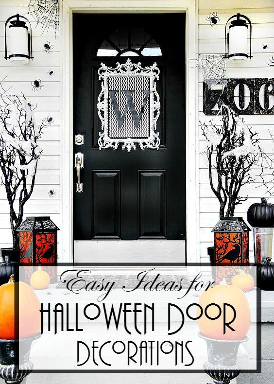 Four Ideas For Inexpensive Halloween Door Decorations