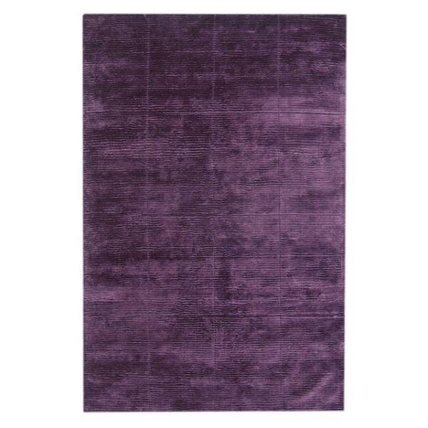 tapis en viscose violet trinity creations square silky