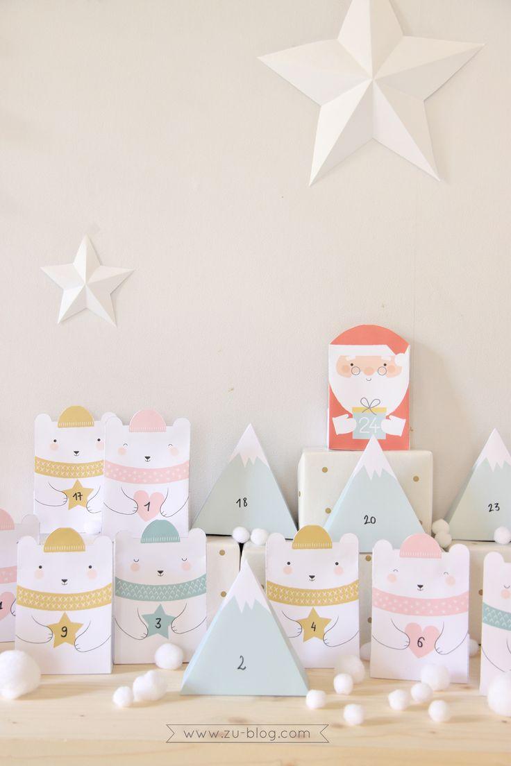 FREE Printable Advent Calendar by Zü