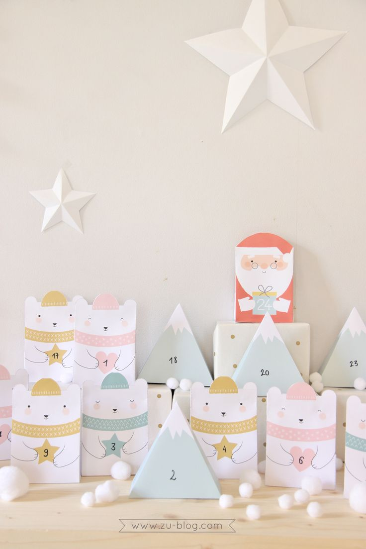FREE Printable Advent Calendar by Zü