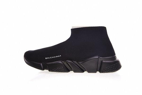 113cf5e599 Balenciaga Speed Stretch Knit Mid Sneaker Triple Noir 454484 W05G0 1000