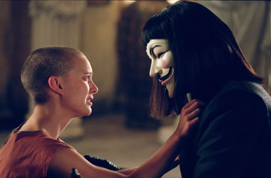 Una película de culto: 'V de Vendetta'.
