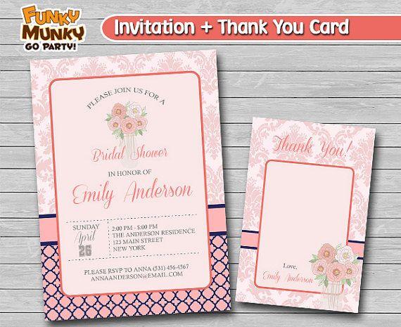 Printable Bridal Shower Invitation Wedding by funkymunkygoparty