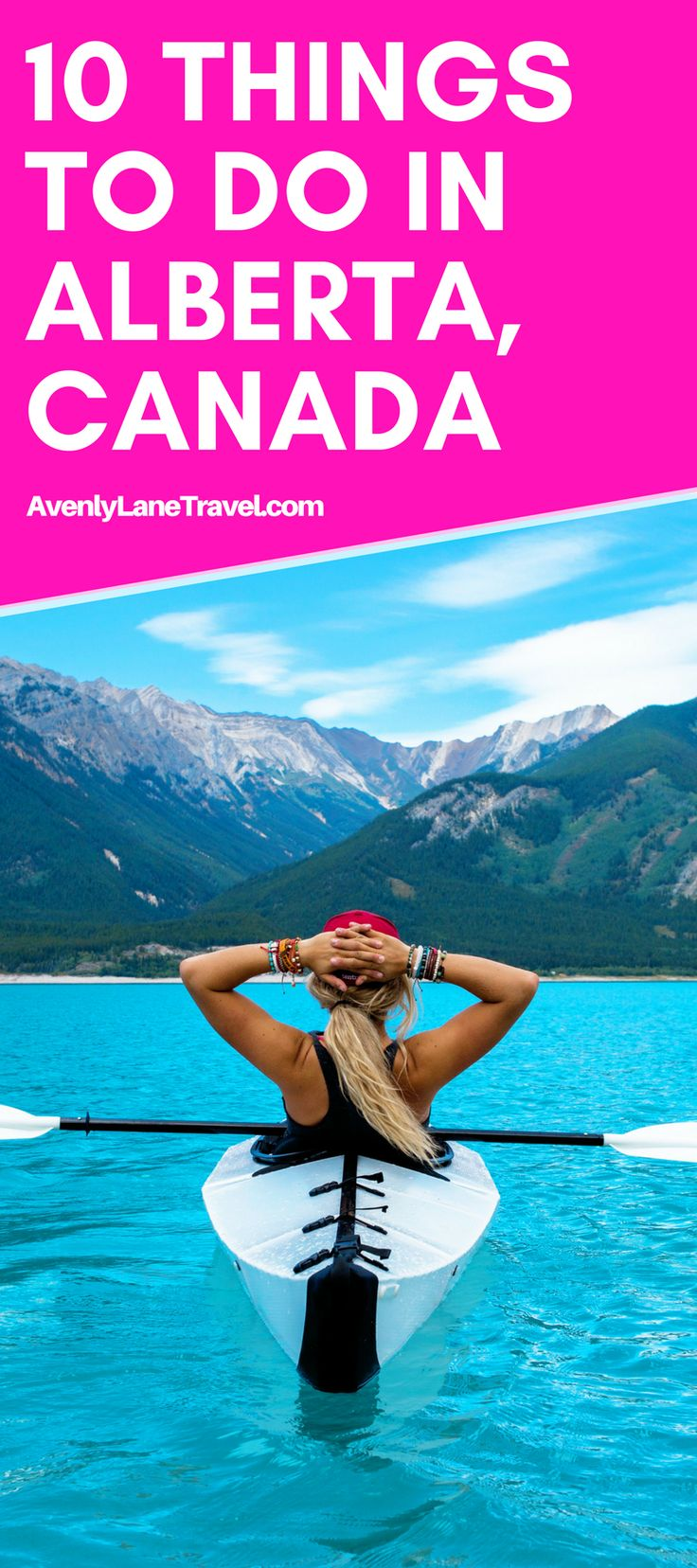 Top 10 Amazing Things To See And Do In Alberta, Canada! Including the Columbia Icefields | Banff National Park | Johnston Canyon Hike | Lake Abraham | Lake Louise | Peyto Lake and so much more! See more on AvenlyLaneTravel.com #banffsummerphotos