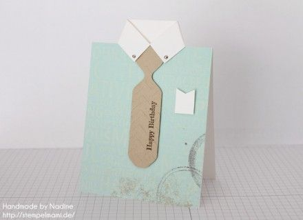 Anleitung Tutorial Stampin Up Maennerkarte Hemd Karte Men Card 058