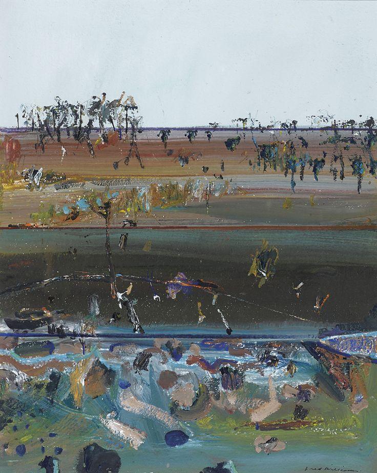 thunderstruck9:  Fred Williams (Australian, 1927-1982), Victorian Landscape, 1976. Gouache on paper, 55.6 x 46 cm.