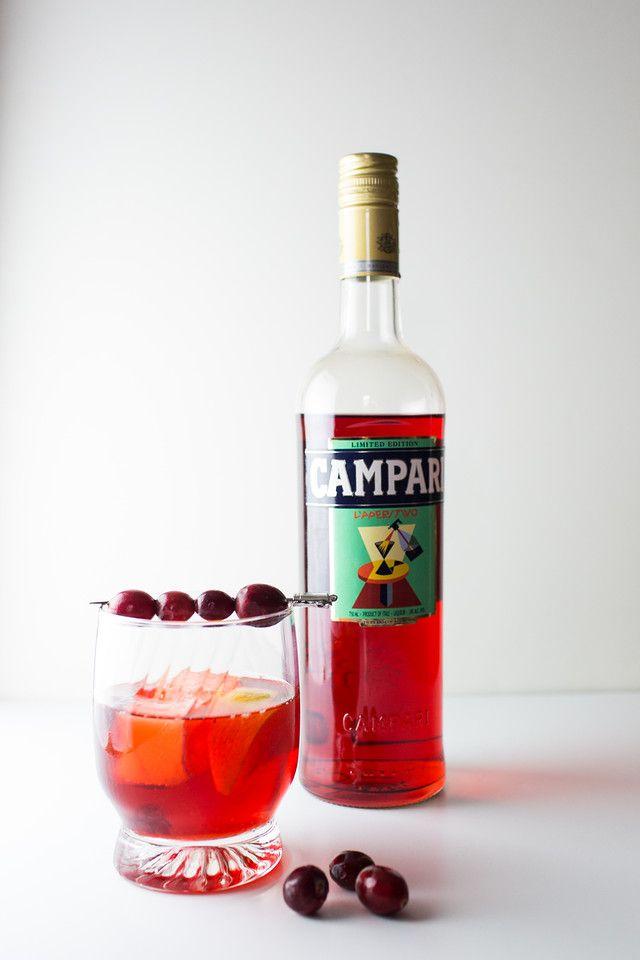 Campari in a cranberry negroni