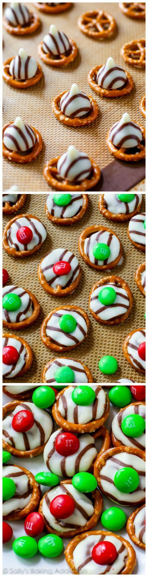 Want an easy holiday treat? Try these festive pretzel hug treats!